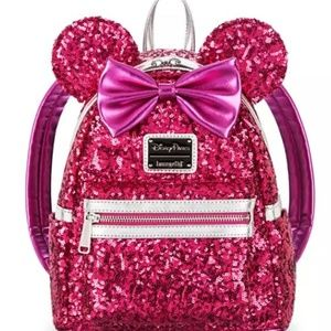 Loungefly Hot Pink Sequence mini backpack